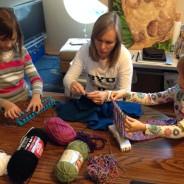 Knitting Trio