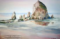 Haystack Rock, Morning